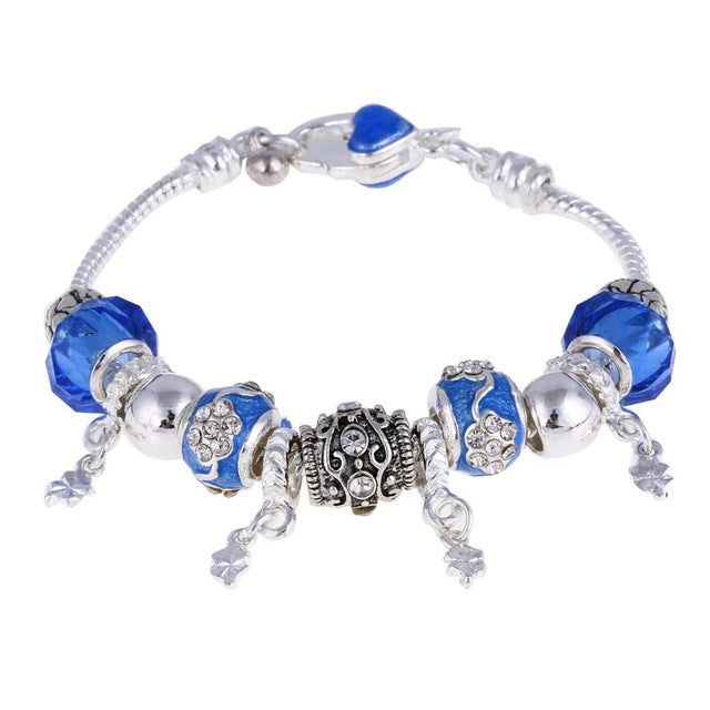 Crystal Charm Silver Bracelets & Bangles for Women