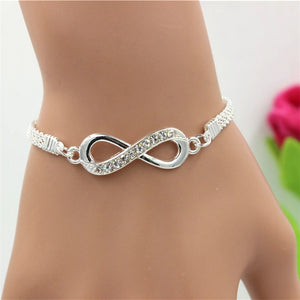 Rhinestone Infinity Bracelet for Men's & Women's