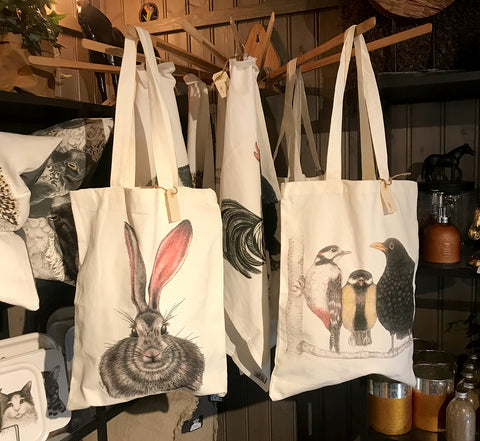 Charlottes tote bags are among our bestsellers!