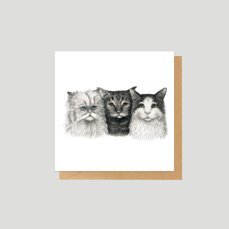 3 Cats - Mini card