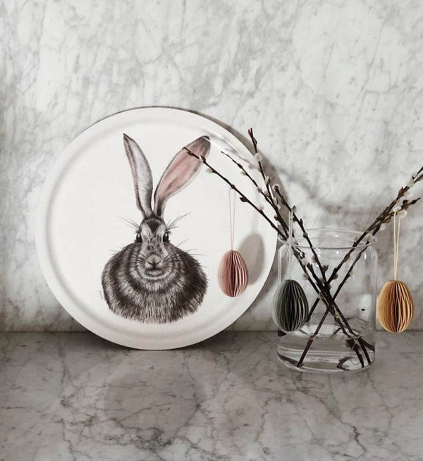 rabbit round tray