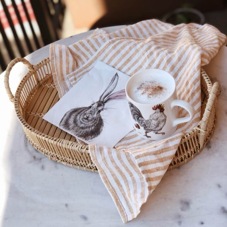 rabbit paper napkins