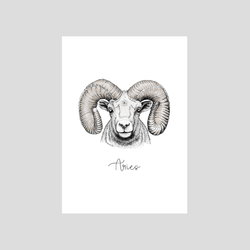 Aries zodiac / astrological sign art print