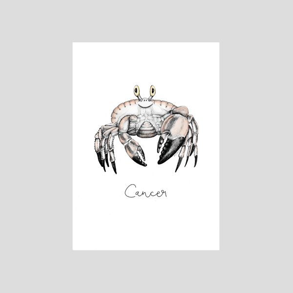 Zodiac sign Cancer from the astrological series by Charlotte Nicolin