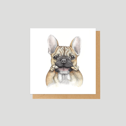 French bulldog / Frenchie mini card - by Charlotte Nicolin