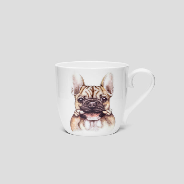 French bulldog / Frenchie mug cup - by Charlotte Nicolin
