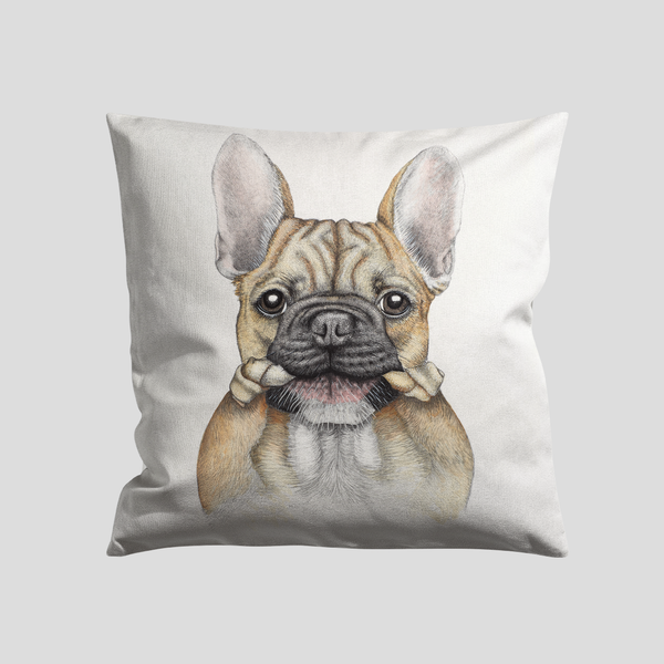 French bulldog cushion cover - by Charlotte Nicolin