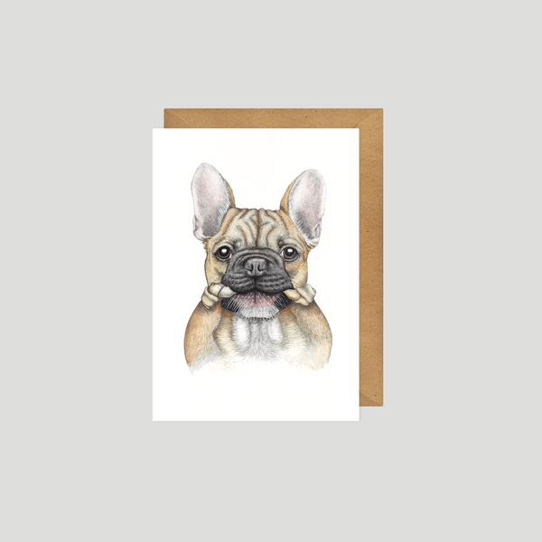 French bulldog / Frenchie postcard - by Charlotte Nicolin