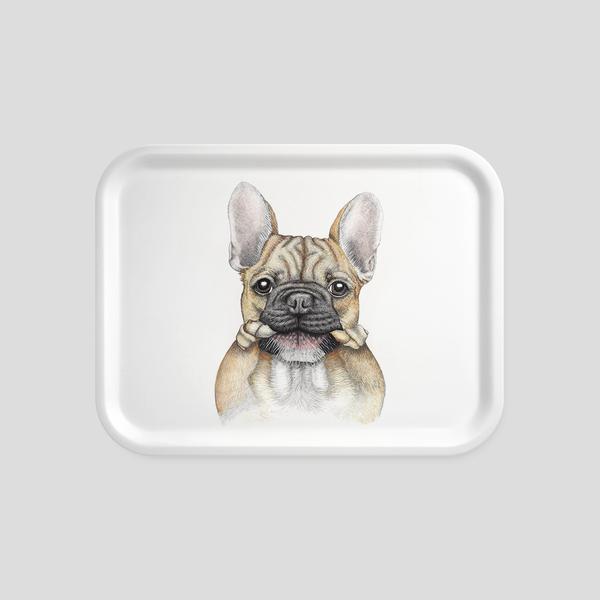 French bulldog / Frenchie tray- by Charlotte Nicolin