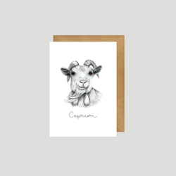 Capricorn - Art card