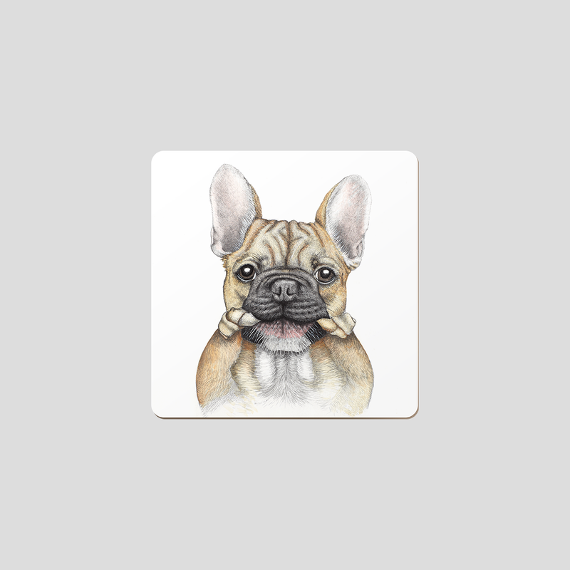 French bulldog / Frenchie coaster - by Charlotte Nicolin