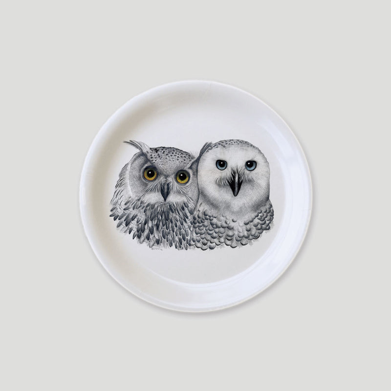 owls on a tray