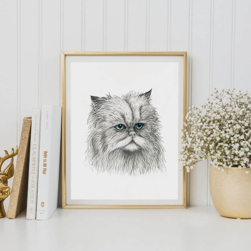 jens the cat art print