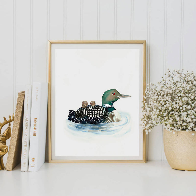 loon bird art print