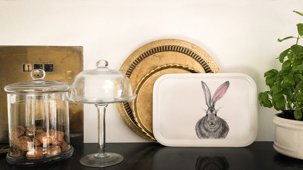 hare on tray