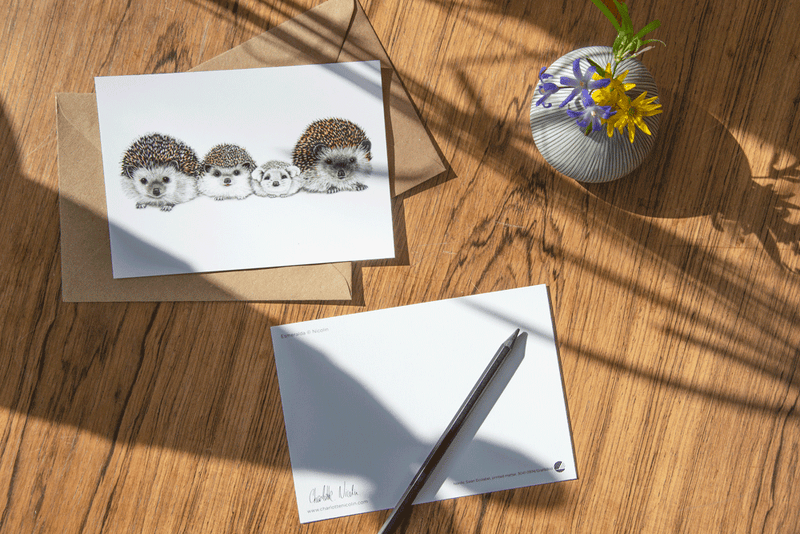 hedgehog family card