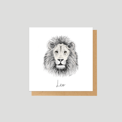 Astrological sign Leo - Mini card