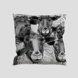 Sheep art on a pillow - by Charlotte Nicolin