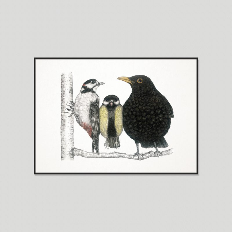 Morning conversation - Fine art print