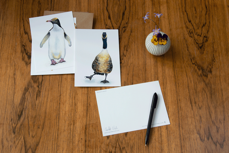 penguin art card