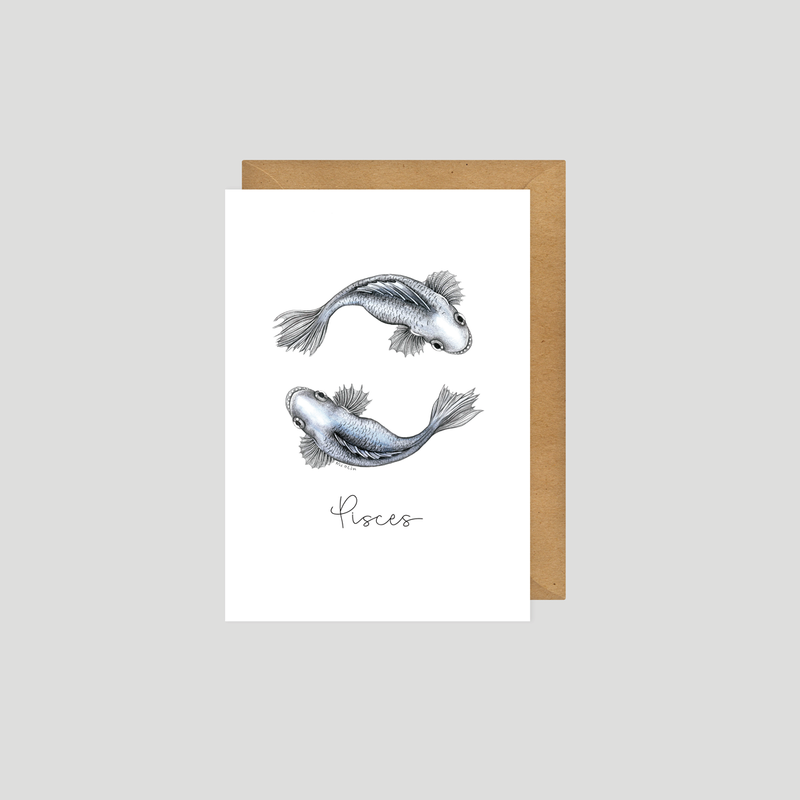 Pisces - Art card