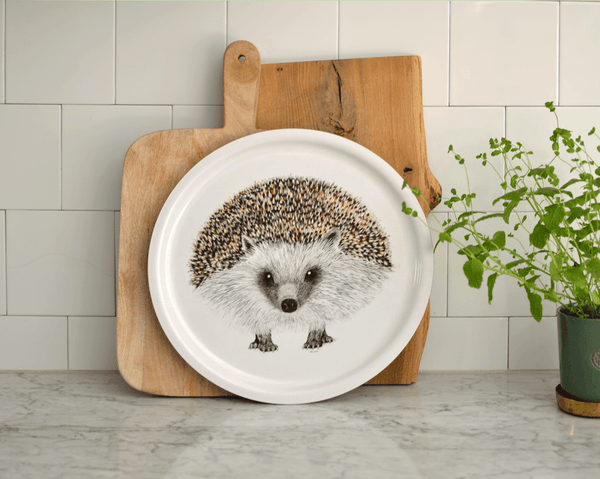 round tray hedgehog