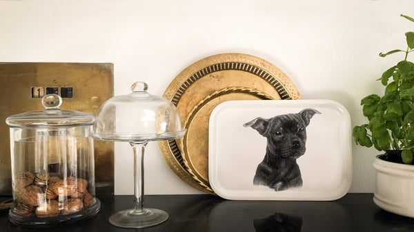 staffordshire bullterrier tray