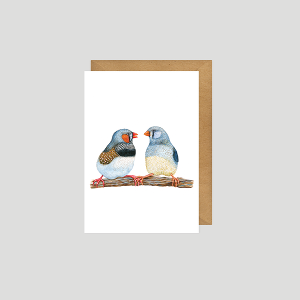 Zebra Finch - Art card