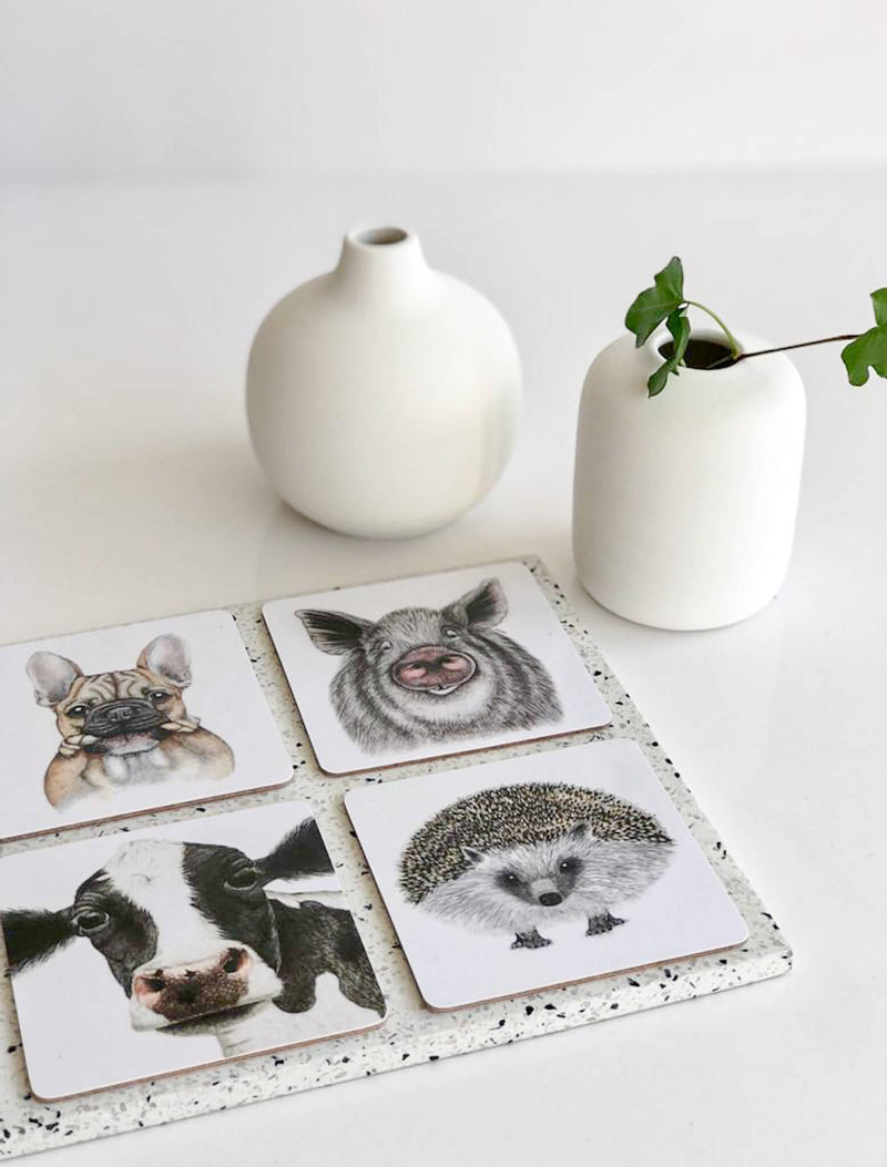 coasters with animal motifs