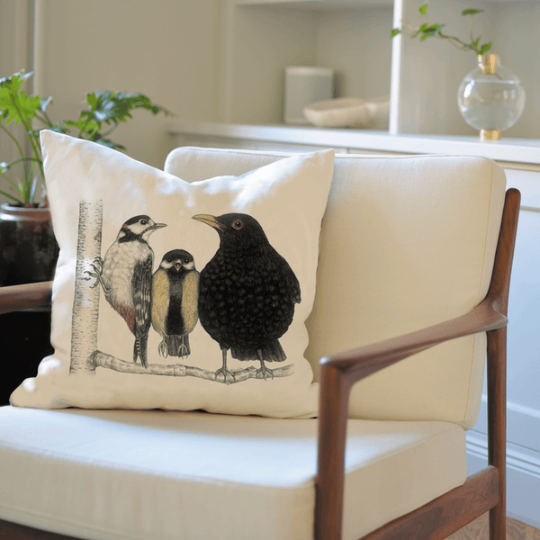 birds on cushion cover