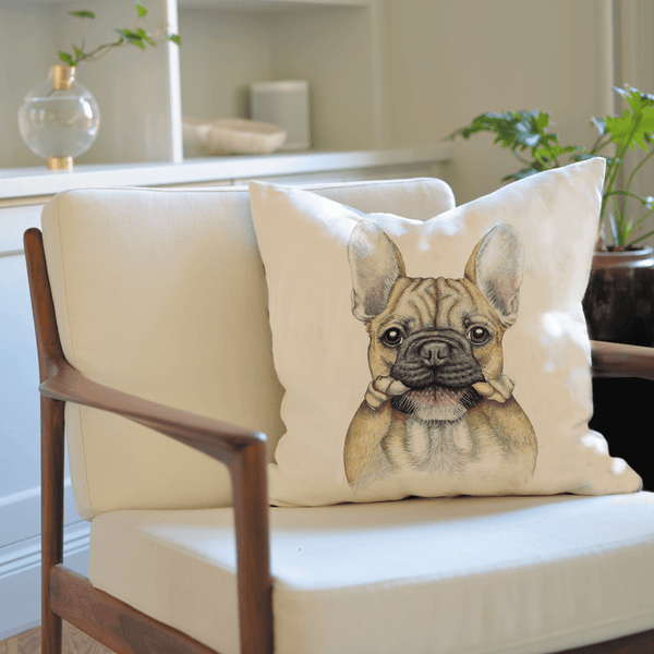 french bulldog on cushion cover