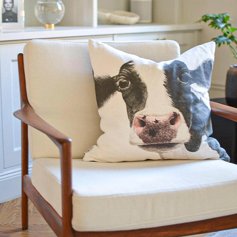rosa the cow cushion cover