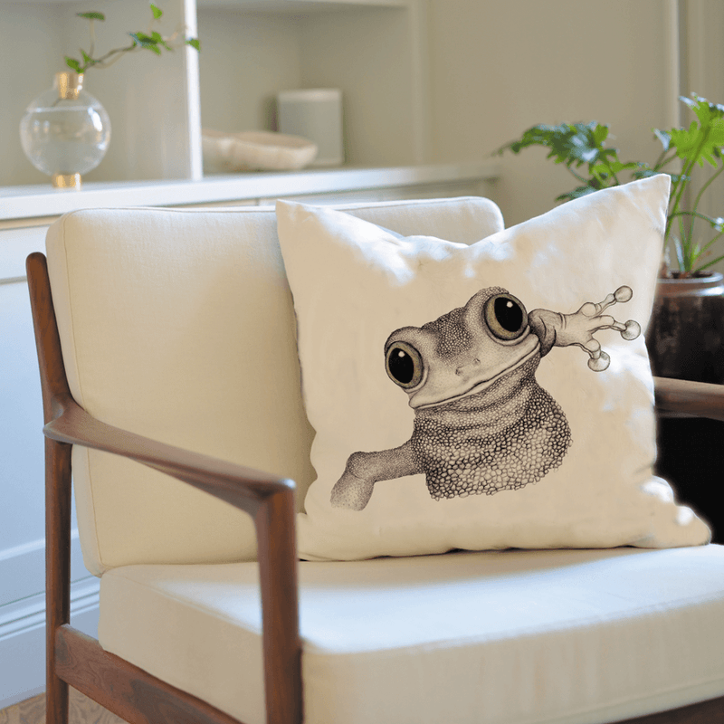 frog on cushion cover