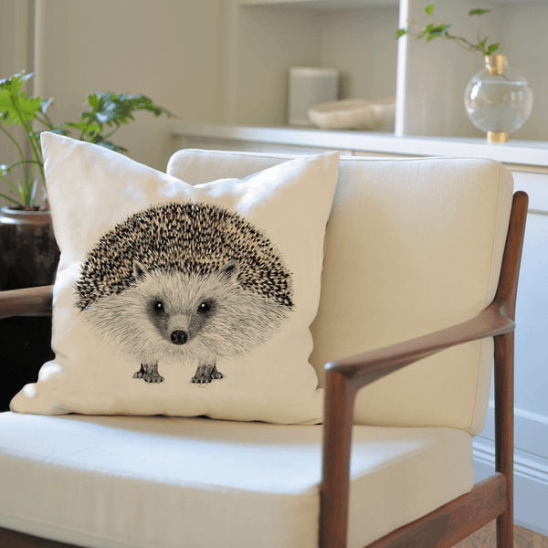 hedgehog cushion cover