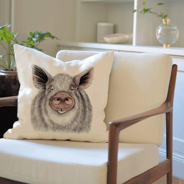 pig on cushion cover