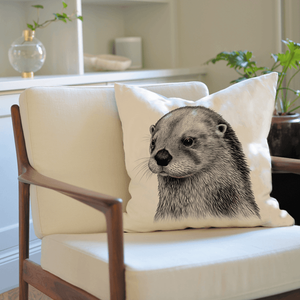 seaotter on cushion cover