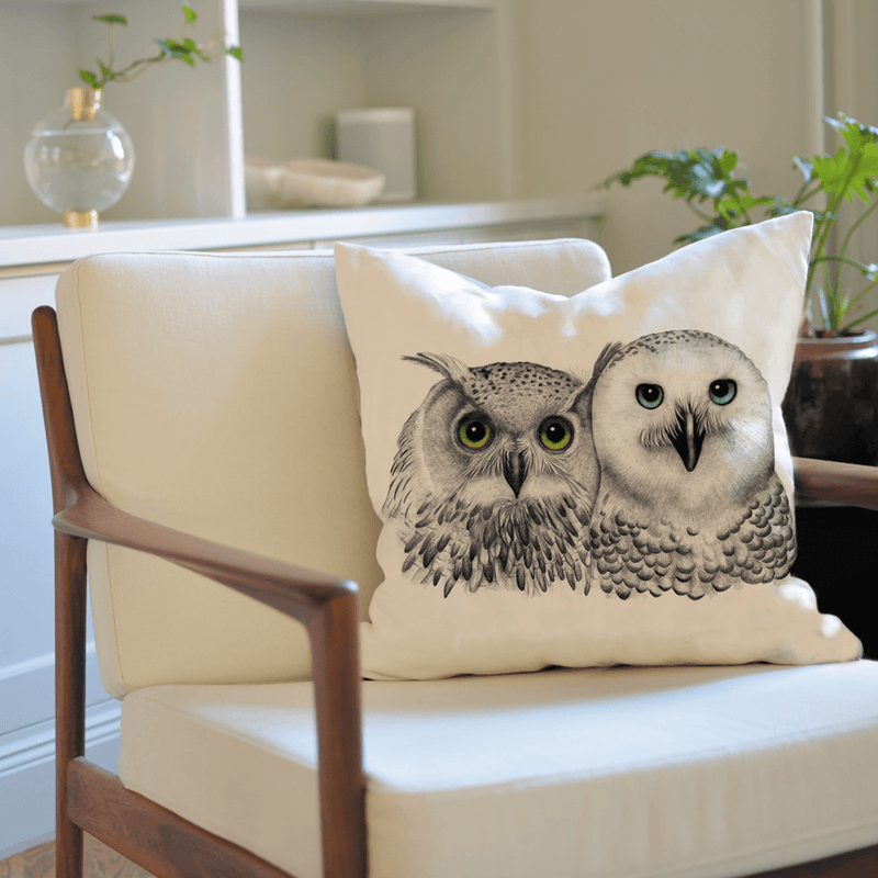 owls on cushion cover