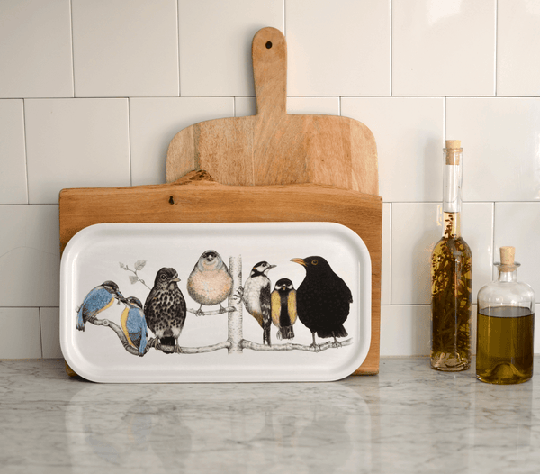 serving tray birds