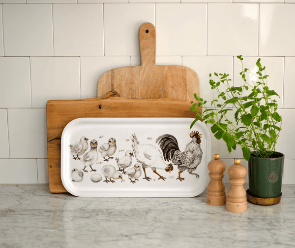 serving tray chicken family