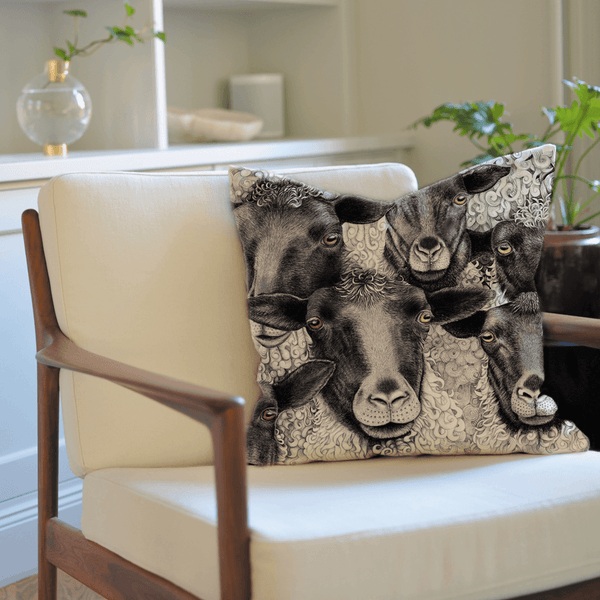 sheep on cushion cover