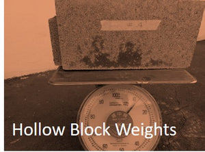 Hollow Blocks Weigh In