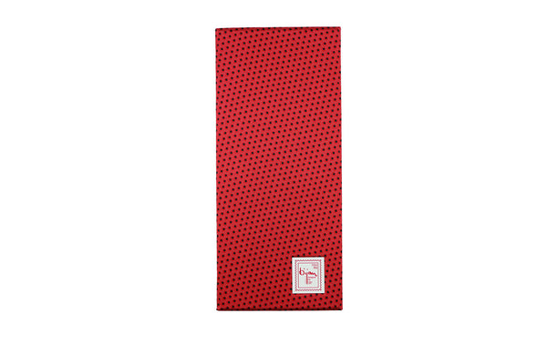 Bijan Red and Black Pure Silk Tie Set