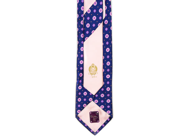 Bijan Purple Pure Silk Tie Set
