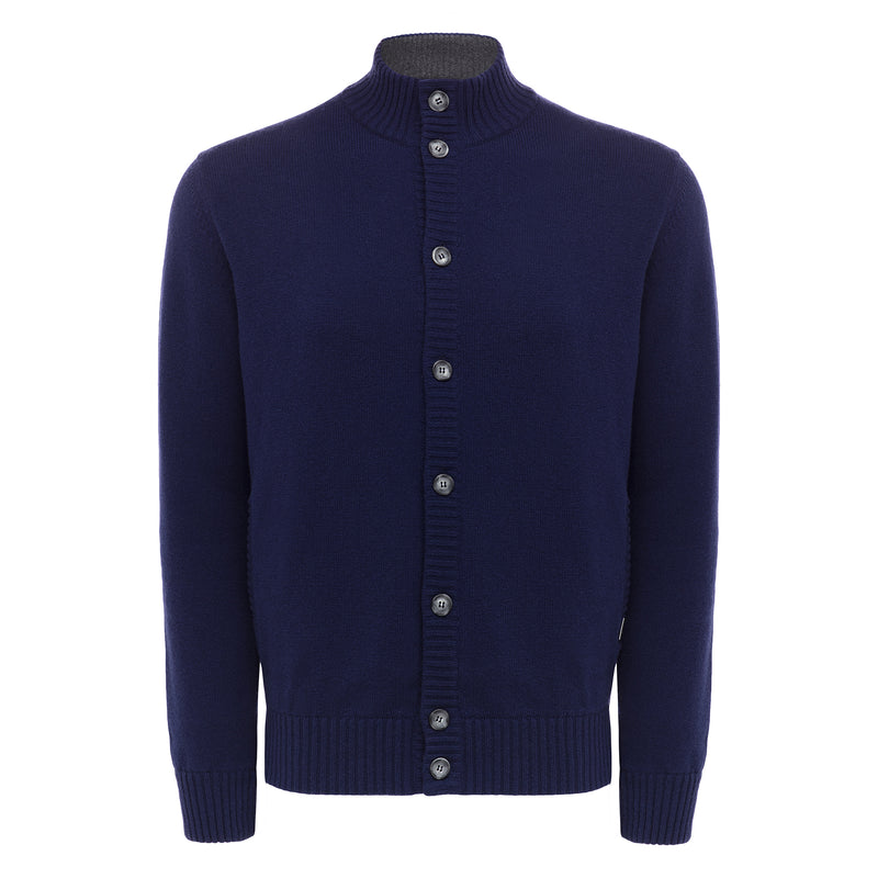 Bijan Cashmere Navy Sweater