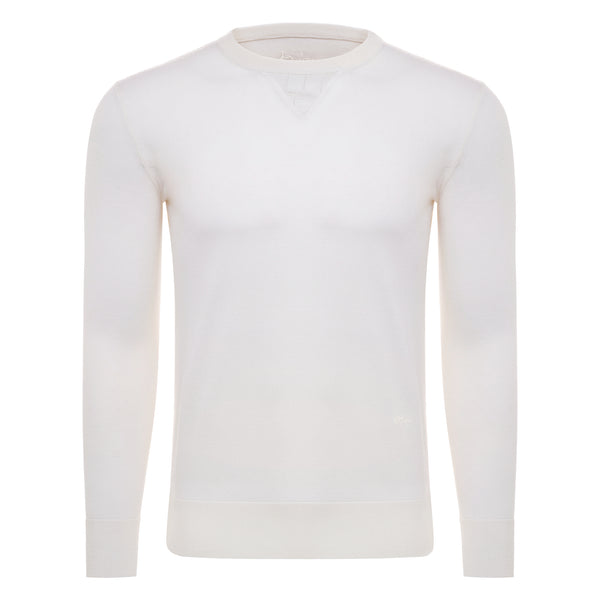 Bijan Cashmere and Silk Crew Neck Sweater