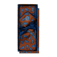 Load image into Gallery viewer, Brown and Blue Paisley