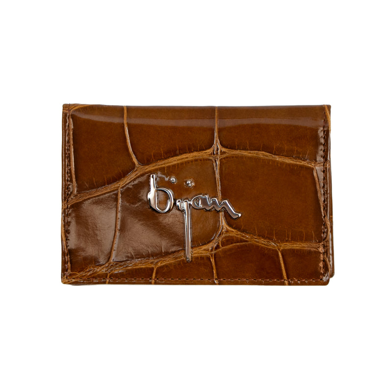 Carmel Brown Leather Card Holder