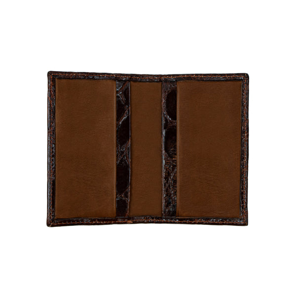 Chestnut Leather Card Holder