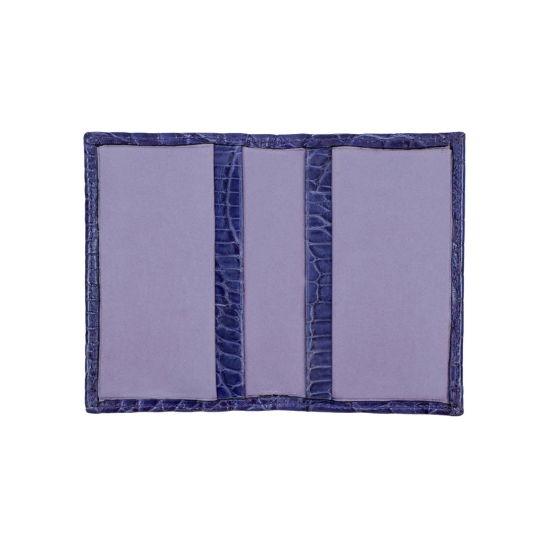 Purple Leather Card Holder