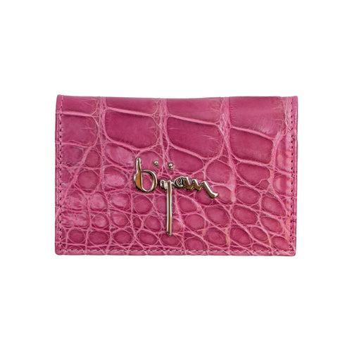 Rose Pink Leather Card Holder